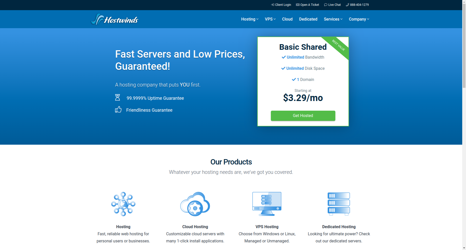 hostwinds what is website hosting service