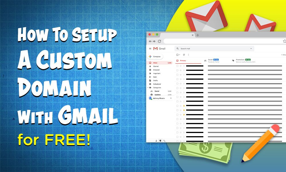 How to Setup A Custom Domain with Gmail For Free <br /> <span class='secondary-title'>Learn how to set up a custom, professional email through Gmail</span>