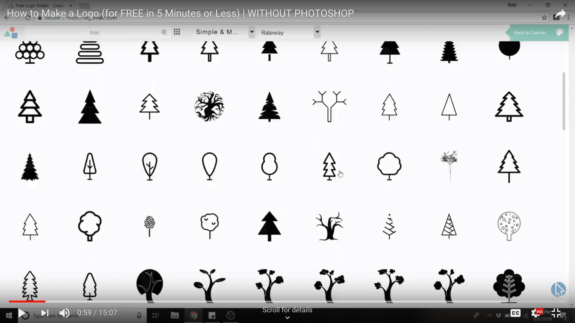 logomakr tree icons