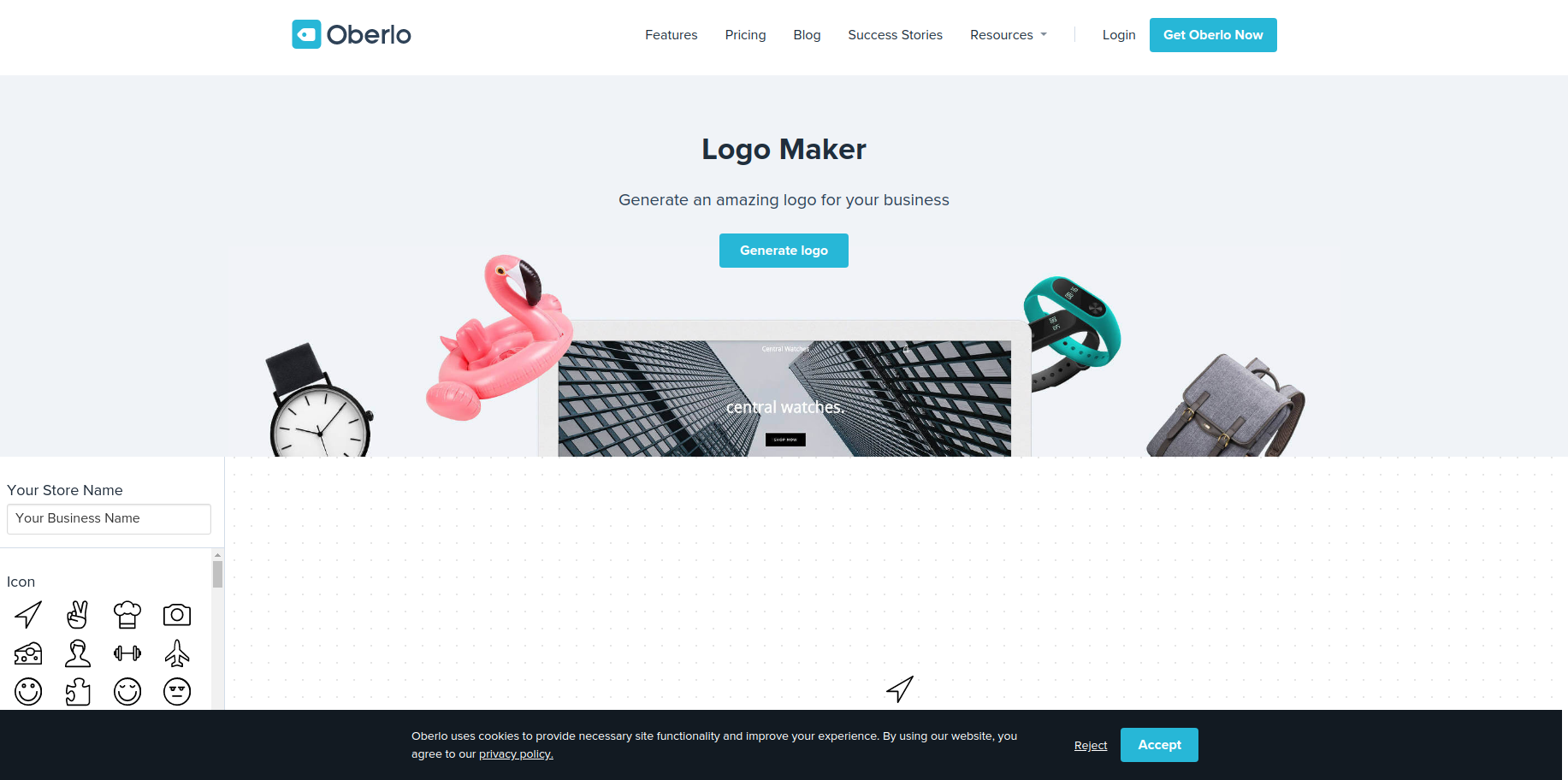 oberlo logo creator free logo maker software