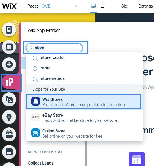 wix ecommerce online store app