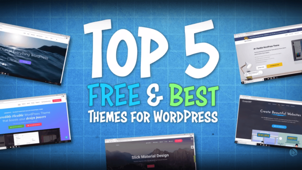 Top 5 Best Free WordPress Themes for Beginners <br /> <span class='secondary-title'>Let's Compare the Top 5 Best FREE WordPress Themes</span>