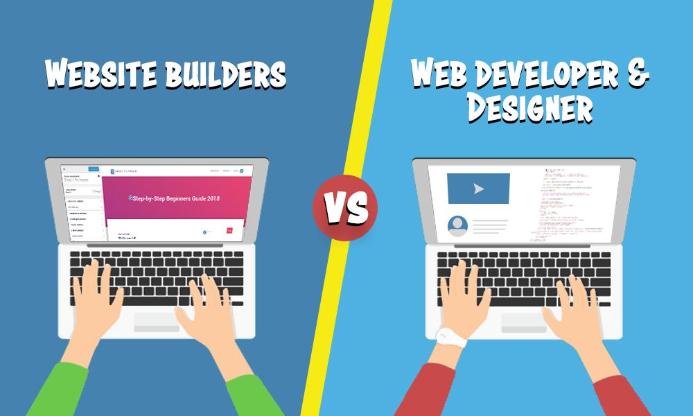 Website builders vs hiring a web developer designer