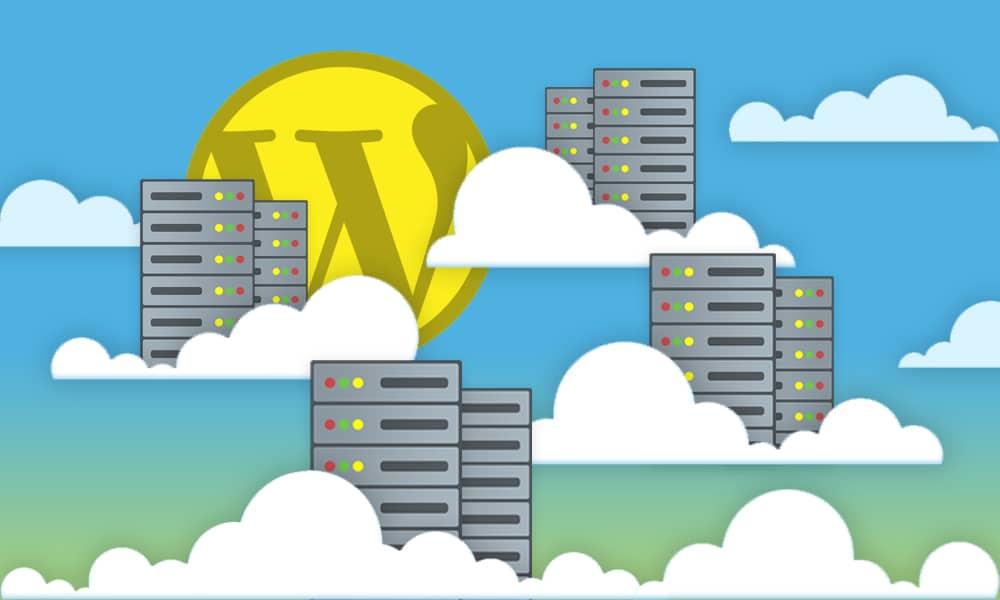 wordpress cdn servers in the sky graphic