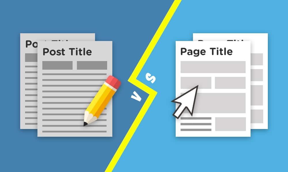 wordpress posts vs pages graphic