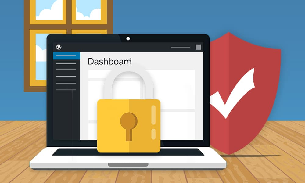 how to secure wordpress site laptop lock shield
