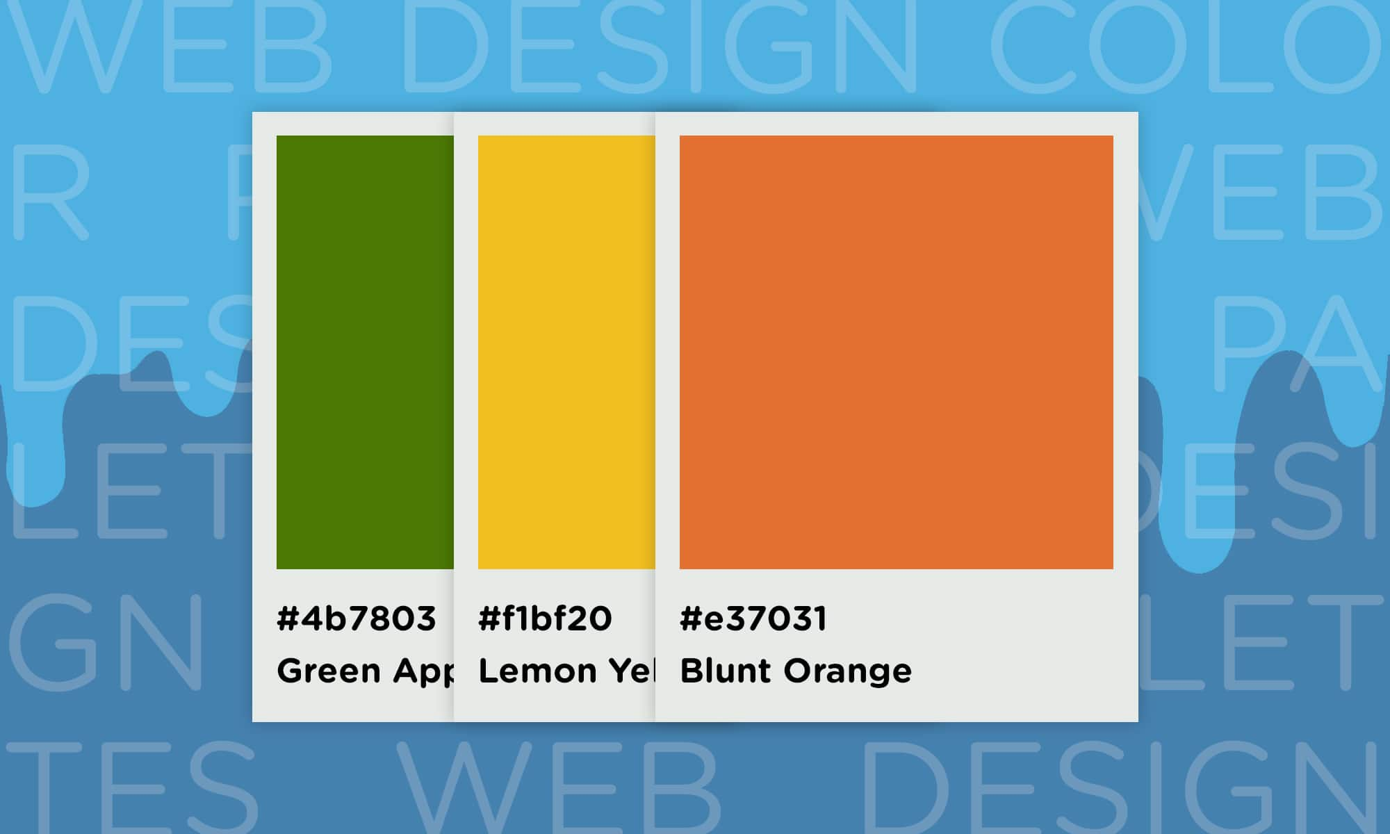 website color schemes color swatch example