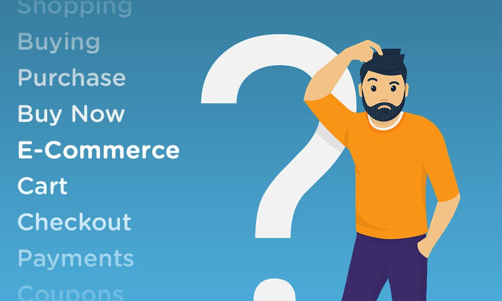 what is an ecommerce platform guy scratching head