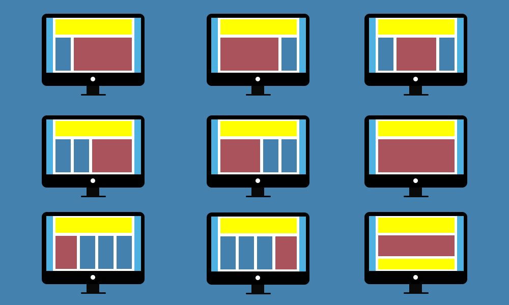web page layout practices