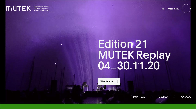mutek website color schemes examples
