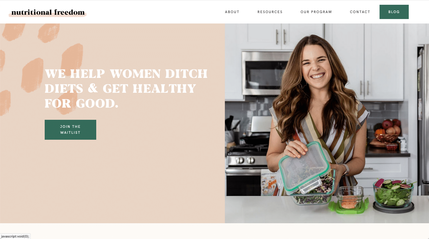 nutritional freedom website color schemes examples