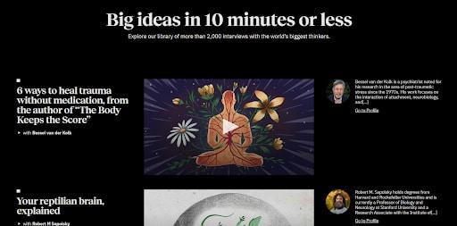 big think satisfying websites meditation