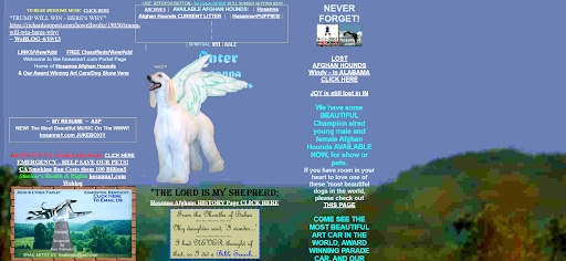 craziest websites hosanna 1 homepage