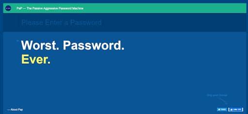 funniest websites passive aggressive passwords worst password ever