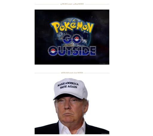 honest slogans funny websites pokemon donald trump