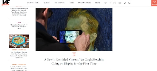 mental floss satisfying websites van gogh