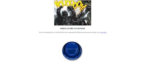 obscure website Nooooooooooooooo homepage