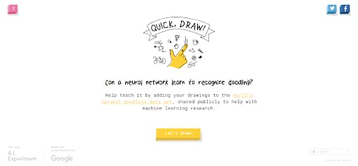 obscure websites quick draw homepage