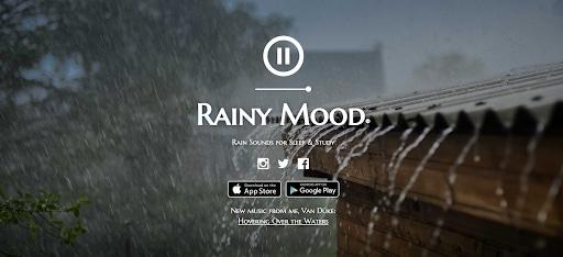strange websites rainy mood homepage