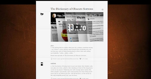 the dictionary of obscure sorrows satisfying websites onism
